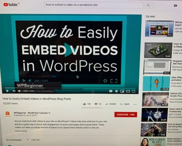 how to put a video on a website